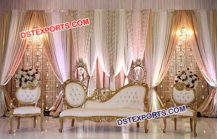 Indian Wedding Stage Sofa Set Mandap Exporters
