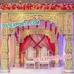 Latest Golden Wedding Mandap Set
