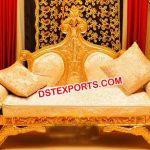Asian Wedding Brass Maharaja Throne
