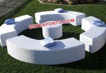 Mehandi Function Leather Seatings Set