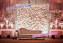 Wedding Stage Flower Back Wall