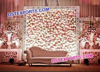 Wedding Stage Flower Back Wall