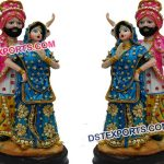 Punjabi Dancing Couple Statue