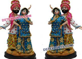 Punjabi Dancing Couple Statue