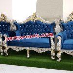 Muslim Wedding Silver Gold Metal Sofa Set