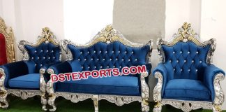 Muslim Wedding Silver Gold Metal Sofa Set