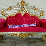 Muslim Walima Gold Silver Love Sofa set