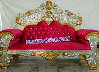 Muslim Walima Gold Silver Love Sofa set