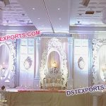 Asian Reception Wedding Stage Decor