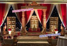 Asian Sri Lankan Wedding Stage Decorations