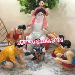 Baba Statue With Playing Children