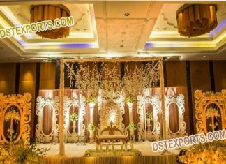 Fancy Wedding Stage Decoration with Back wall Panels