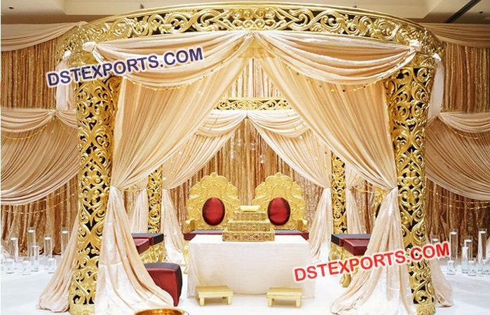 Elegant Luxurious Wedding Mandap For Sale Mandap Exporters