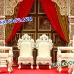 Bollywood Style Indian Wedding Mandap Chairs Set 9618