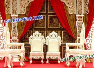 Bollywood Style Indian Wedding Mandap Chairs Set 9618
