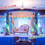 Bollywood Style Wedding Crystal Mandap Set