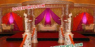 Designer Carved Crystal Wedding Mandap
