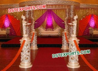 Designer Carved Crystal Wedding Mandap