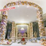 Elegant Floral Wedding Mandap