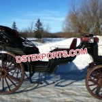 Elegant Vis-a Vis Black Horse Carriage