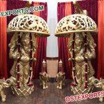 Fiber Ganesha Statues With Umberala