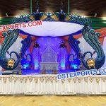 Fiber Peacock Theme Wedding Mandap