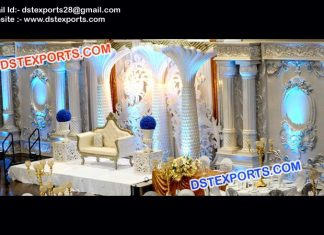 High Class Wedding Stage Decorations 9523