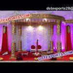 Indian Crystal Fiber Wedding Mandap 9505