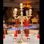 Indian Wedding Glass Cut Work Center Pieces