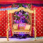 Indian Wedding Gold Jhula Swing