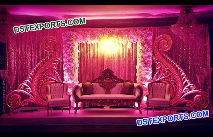 Latest Design Paisleys For Wedding Stage Decor Mandap Exporters