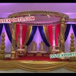 Latest Wedding Fiber Gold Jali Mandap