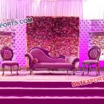 Leather Panel Wedding Stage Decoration