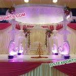 Luxury Led Crystal Wedding Mandap