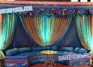 Muslim Wedding Mehandi Stage Decoration