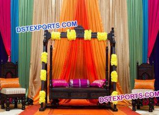 Muslim Wedding Antique Jhula Set Furniture