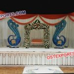 Peacock Theme Wedding Stage Decor 9464