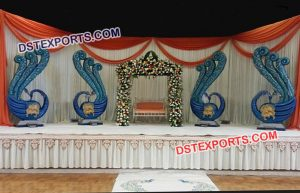 Peacock theme wedding stage decor mandap exporters backdrop fiber panels wedding decoration items and all wedding items in india and out of india like some major countries usa uk canada south africa junglespirit Images