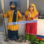 Punjabi Culture Sardar & Sardarni Fiber Statues
