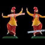 Punjabi Dancing Bhangra Fiber Statue 1