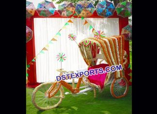 Punjabi Wedding Dulhan Entry Idea Rickshaw9555