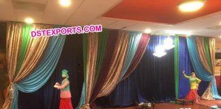 Punjabi Wedding Stage Backdrop Decoration