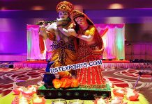 Radha Krishan Theme Garba Decoration