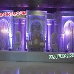 Royal Asian Wedding Stage Set