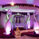 South Indian Wedding Swan Mandap