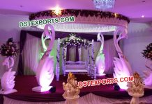 South Indian Wedding Swan Mandap