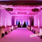 Wedding Aisleway Side Wall Panels and Pilllars