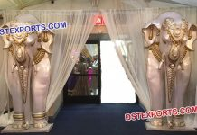 Wedding Entrance Fiber Elephant Statues
