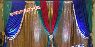 Wedding Stage Backdrop Curtains and Drapes