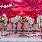 Wedding Wooden Mandap Chairs Set
